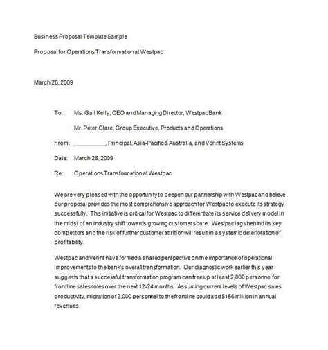 templates for business proposals 30 business templates letter sles