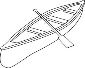 Canoe Coloring Page  Free Clip Art sketch template