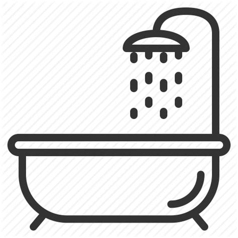 bathtub outline bathing bathroom bathtub kohler shower showering icon