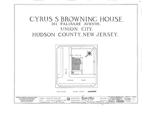 Hudson County New Jersey Records File Cyrus S Browning House 161 Palisade Avenue Union City Hudson County Nj Habs
