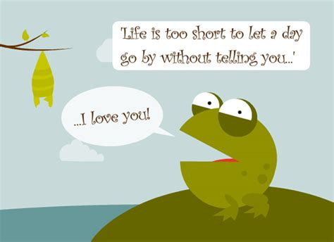 day ecards free ecards frog