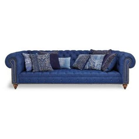 denim chesterfield sofa indigo denim chesterfield sofa furniture pinterest