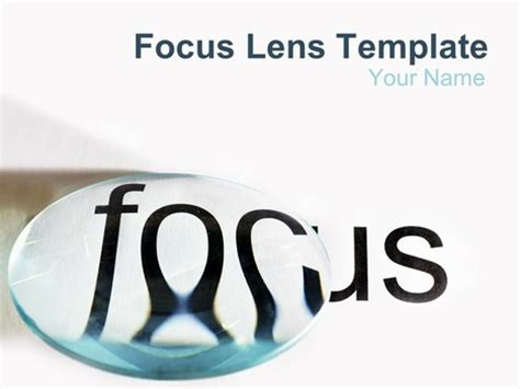 Focus Lens Powerpoint Template Focus Template