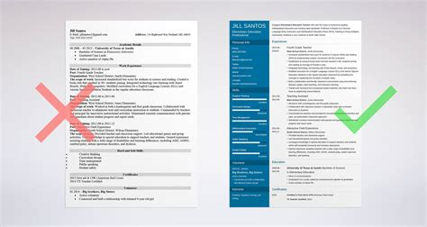 Resume Template For Teachers by Resume Sle Complete Guide 20 Exles