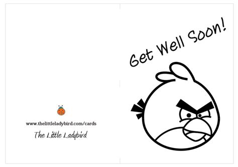 printable coloring pages get well soon greeting card get well soon angry bird coloring