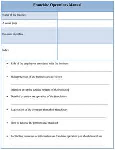 manual template for franchise operations example of