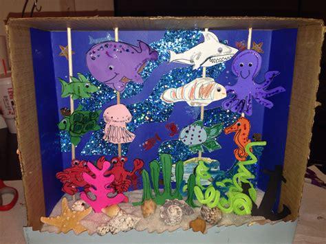 free printable ocean diorama under the sea diorama kids crafts pinterest dioramas