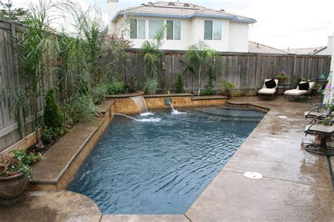 pool in small backyard pool designs for small backyards pool and spa builder