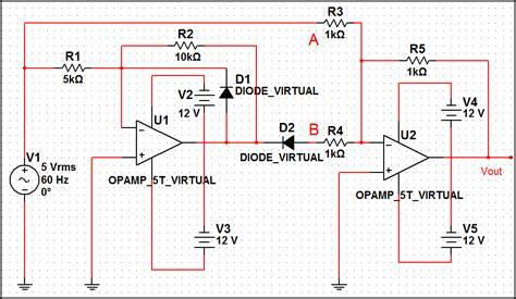 diode bridge in multisim diode 1n4001g 28 images bridge rectifier in multisim wmv 1n4004gl datasheet 1n4004gl pdf