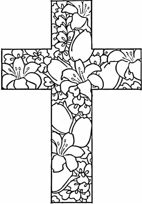 hard cross coloring pages cross coloring pages for adults coloringstar