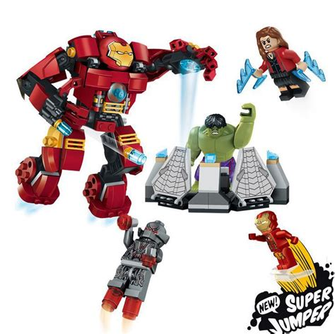 Limited Mainan Robot Avengers2 Age Of Ultron new the buster smash building blocks age of