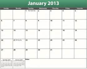 Printable Monthly Calendars Printable Pdf 2013 Monthly Calendar