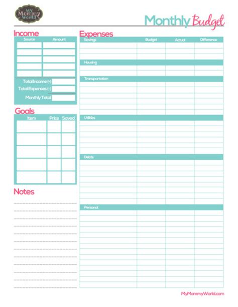 free printable planner forms free printable monthly budget form budget forms monthly