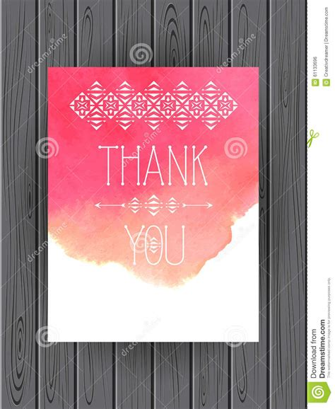 watercolor thank you card template thank you card template vector watercolor background