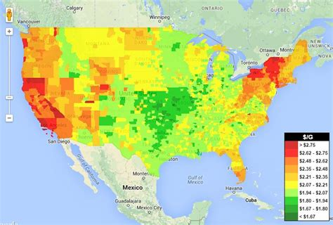 need relief at the check the gasbuddy heatmap
