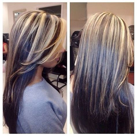 dramatic highlights for gray roots best 20 highlights for dark hair ideas on pinterest