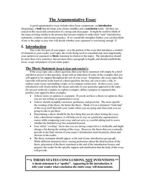 8 argumentative essay sample essay checklist