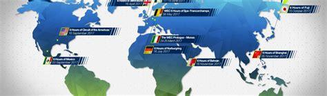 Calendrier Wec Calendrier Wec 2017 Fia World Endurance Chionship