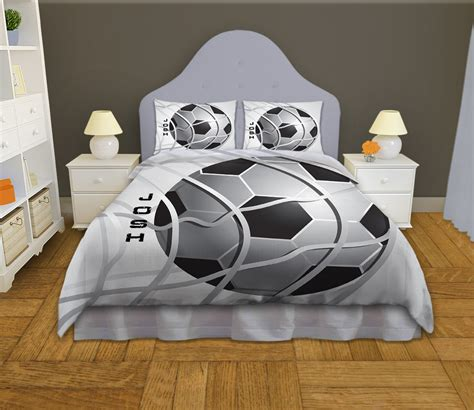 soccer bedding soccer comforter twin queen king boys by eloquentinnovations