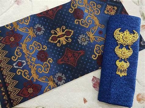 Kain Batik Prada Pekalongan Motif Songket Set Embos Warna Biru kain batik motif songket batik pekalongan by jesko batik
