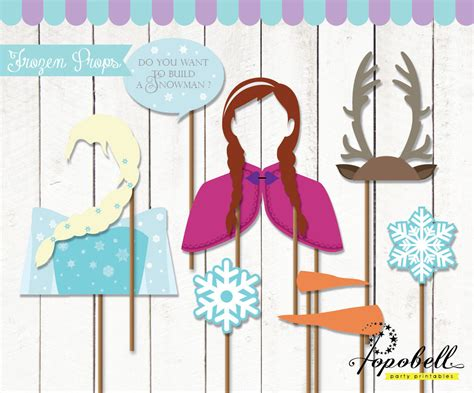 printable photo booth props frozen frozen props for frozen birthday party instant download
