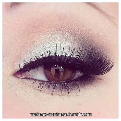 Eyeshadow Silver silver makeup on make up metallic makeup and