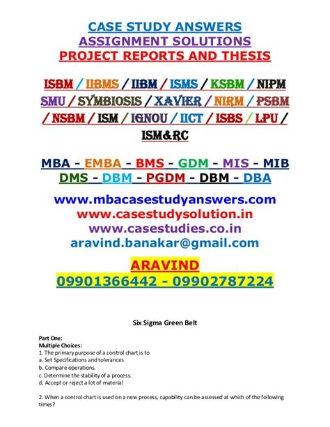 Mba Study Exles With Solutions by Study Exles With Answers Dental Vantage Dinh