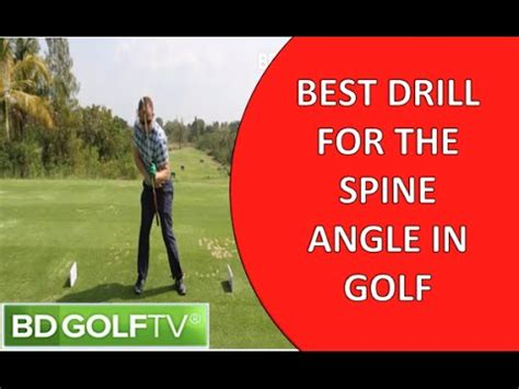 golf swing spine angle drill 1 drill correct spine angle in the golf swing youtube