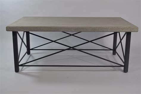 concrete top coffee table outdoor davis concrete coffee table mecox gardens