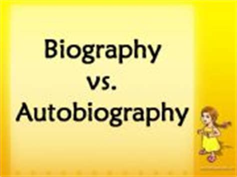 biography autobiography ppt ks2 esl english powerpoints biography vs autobiography
