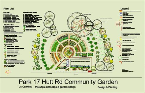 Community Garden Layout Community Garden Gardencad