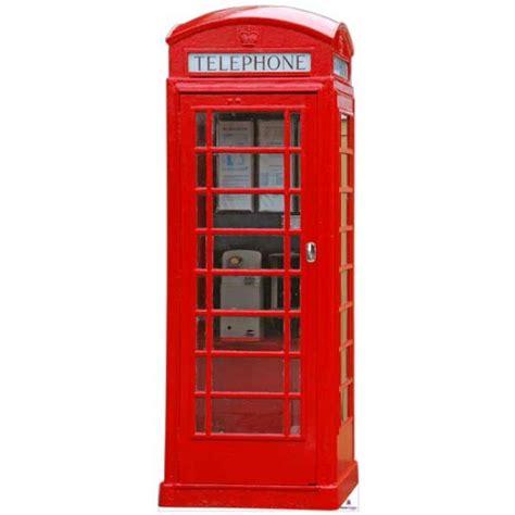Telephone Box telephone box cardboard cutout n014
