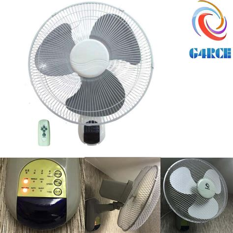 remote wall fan 16 quot wall mounted fan remote 3 speed oscillate hydroponics