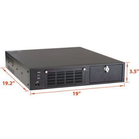 Rack Mounted Computer by 2u 19 2 Quot Depth Industrial Rack Mount Computer With 5 Pci Isa Pcie Expansion Slots Rms5220b