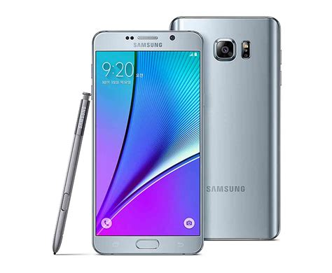 samsung shows galaxy note 5 in silver titanium pink