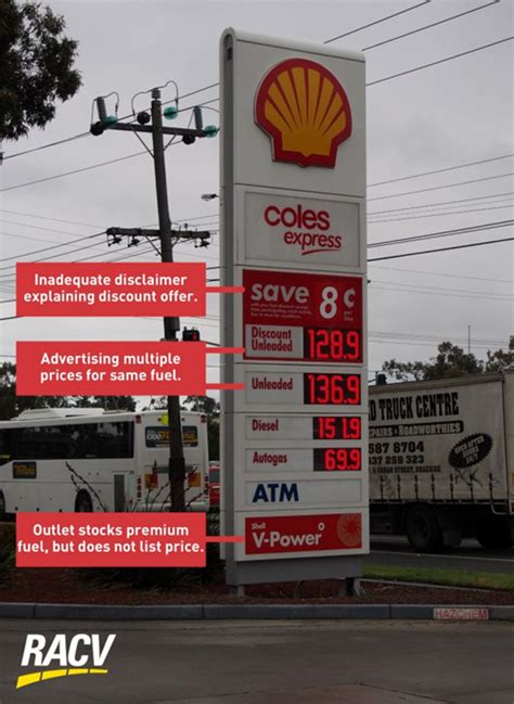 racv welcomes a ban on discount fuel advertising boards