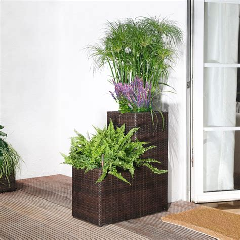 Planter Irrigation System by Rattan Planter 2 Stage With Irrigation System Garden
