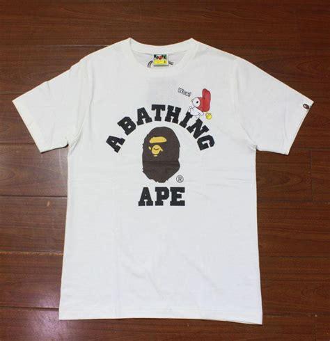 Bathing Ape Tees 2017 unisex s bape rabbit ape logo a bathing ape t