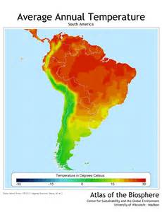 climate map of south america search