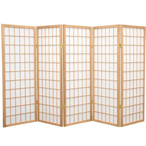 5 panel room divider 4 ft 5 panel room divider wp48 nat 5p the home