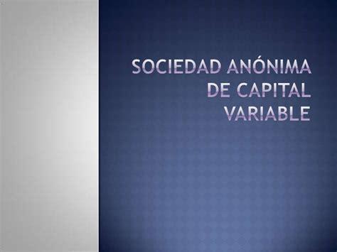 liquidacion de una sociedad anonima de capital variable s a de c v