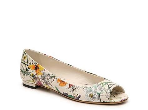 Flat Shoes Gucci W3581 Sale Tawar By Chat Grosir sale gucci floral leather peep toe flat dsw