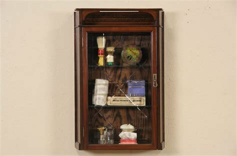 Sold Pair Of 1890 S Antique Medicine Cabinets Or Hanging Cut Glass Doors