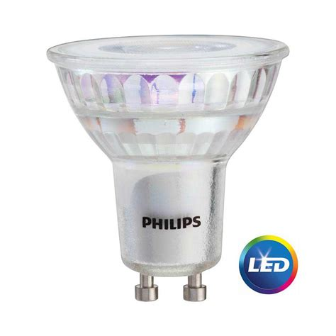 Gu10 Light Bulbs Led Philips 50w Equivalent Bright White Mr16 Gu10 Led Light Bulb 3 Pack 465054 The Home Depot