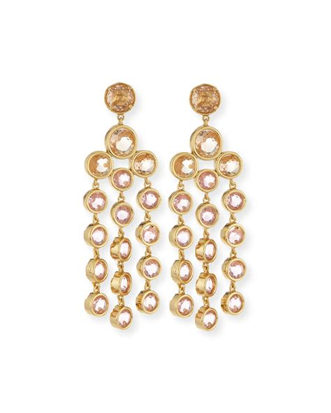 Kate Spade Sparkle Chandelier Earrings In Gold Blush Lyst Kate Spade Chandelier Earrings