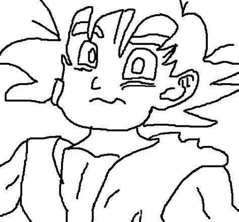 imagenes de goku para calcar dibujo de goku para colorear dibujos net