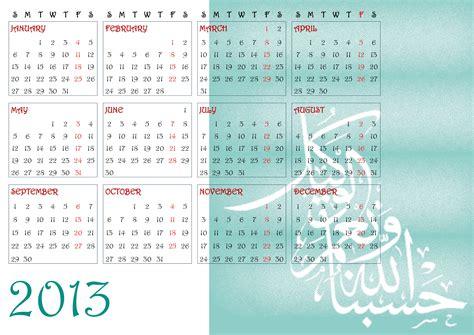 Muslim Calendar 10 Exceptional Islamic Calendar 2013 To And Print