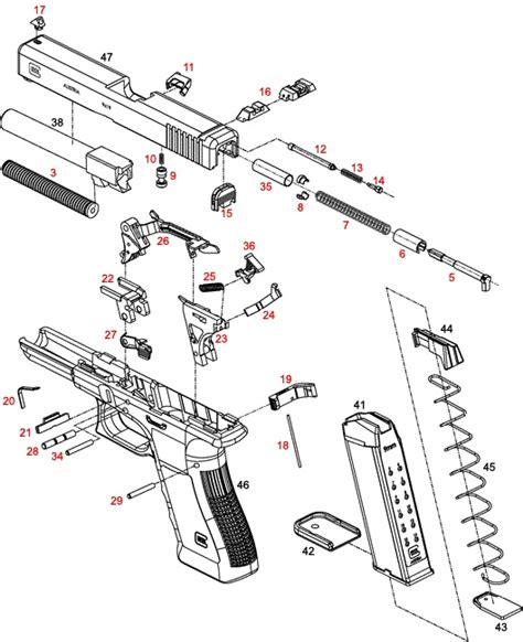 glock parts diagram glock 34 35 individual parts with schematic