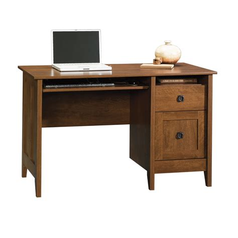 shop sauder august hill oak computer desk at lowes