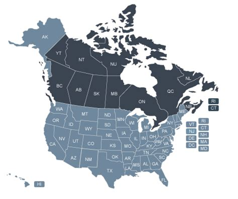 canada usa map states and provinces province of the holy spirit anglican rite parishes and